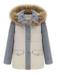 Women Vintage Fur Hooded Warm Winter Coat Thicken Parka Overcoat Long Jacket