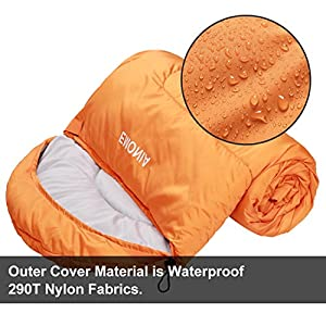 Emonia Camping Sleeping Bag,Three Season.Waterproof Outdoor Hiking Backpacking Sleeping Bag Perfect for Traveling,Lightweight Portable Envelope Sleeping Bags for Adults,Girls and Boys