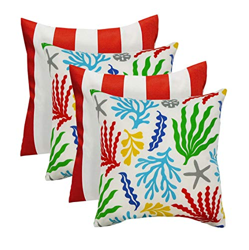 - Set of 4 - Indoor/Outdoor Square Decorative 20