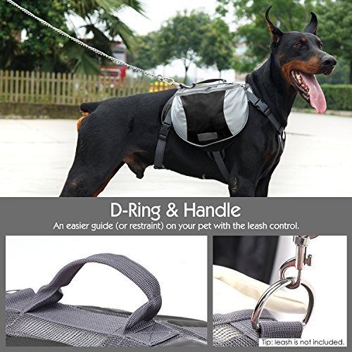 Pawaboo Dog Backpack Pet Adjustable Saddle Bag Harness