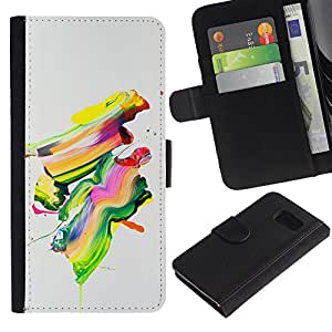 ZCell / Samsung Galaxy S6 / Colorful Painting Abstract Art Modern Paint Brush / Caso Shell Armor Funda Case Cover Wallet / Colorido pintura abstr