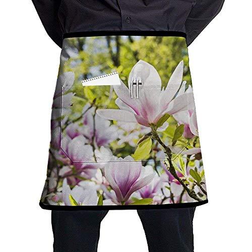 Han Jun Hua Multicolour Funny Flower Chef Aprons Bar Custom Half-Length Waist Apron Stitching Pocket£¬Easy to Clean