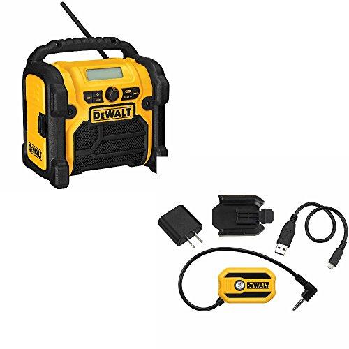 DeWalt DCR018 Compact Worksite Radio & DeWalt DCR002 Bluetooth Adaptor