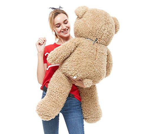 DOLDOA Big Teddy Bear Stuffed Animals Plush Toy for Girlfriend Children (39 inch, Tan)
