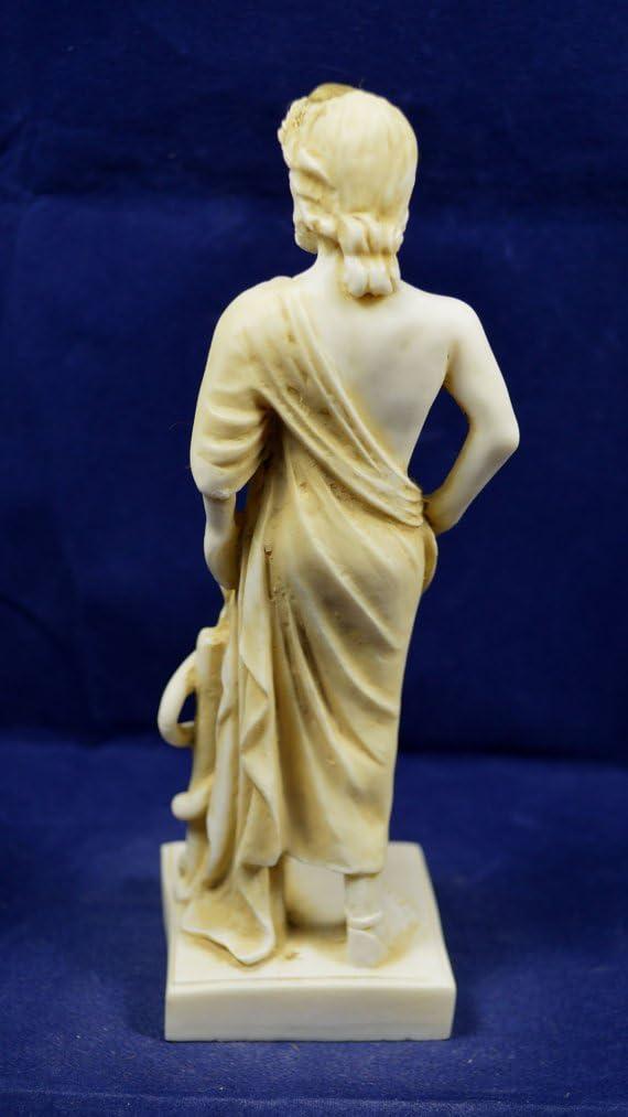 Estia Creations Asklepios Skulptur Statue Antiken Griechischen Gott der Medizin Aged