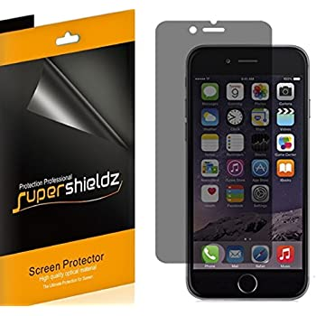 [2 Pack] Supershieldz- Privacy Anti-Spy Screen Protector Shield For Apple iPhone 6S Plus -Lifetime Replacements Warranty - Retail Packaging