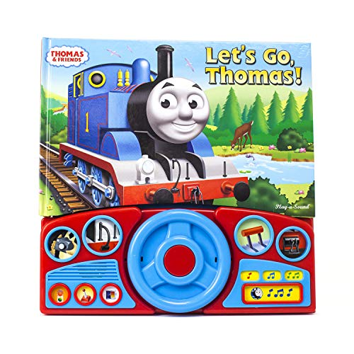 Thomas & Friends - Let's Go Thomas! Interactive Steering Wheel Sound Book - PI Kids (Thomas The Train Read Along Books)