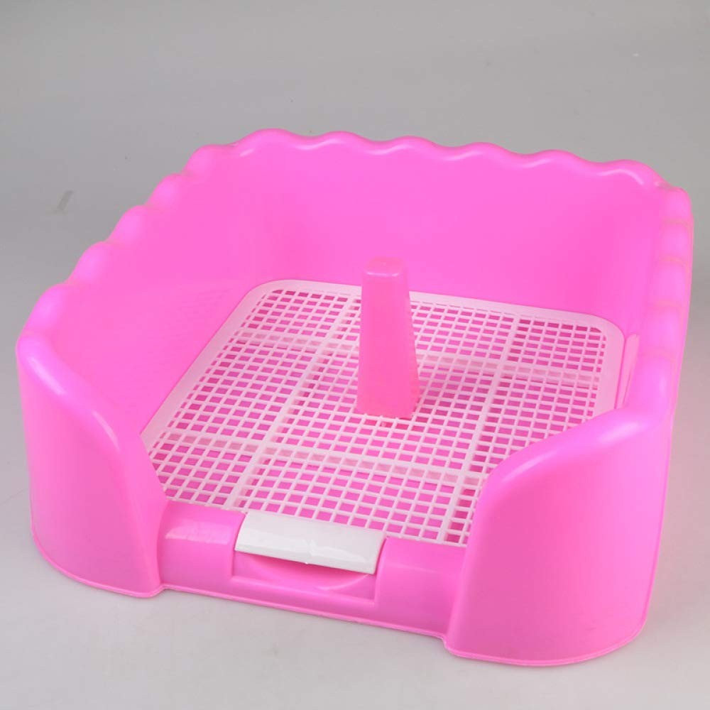 Pink Self-cleaning Litter Box Dog Upright Toilet Toilet Fence Pet Toilet,Pink