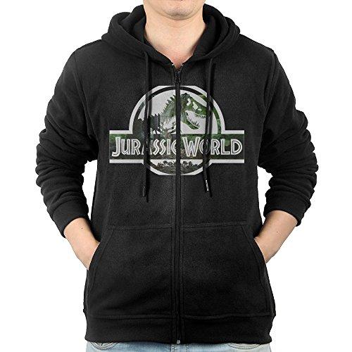 SFG Men's Jurassic Logo World Visor Fashion Hoodie Hooded Sweatshirt Leisure Style S Black - Joker Lego Costume