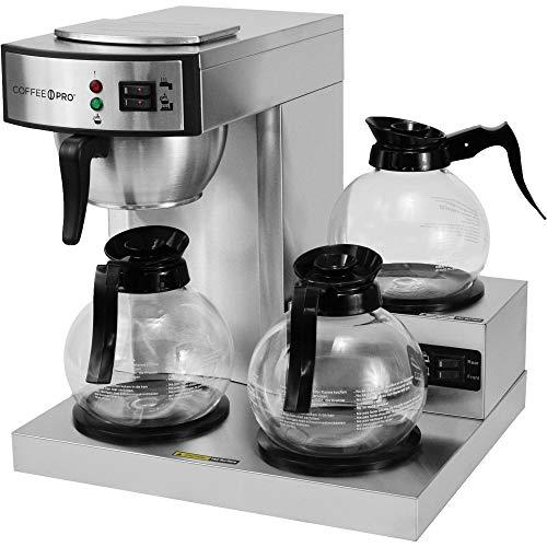 Burner Pro Coffee Three - Three Burner Low Profile Commerical Coffee Brewer