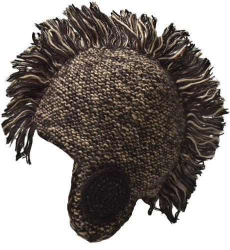 (Nirvanna Designs CH81 Mohair Blend Mohawk Hat with Fleece,)