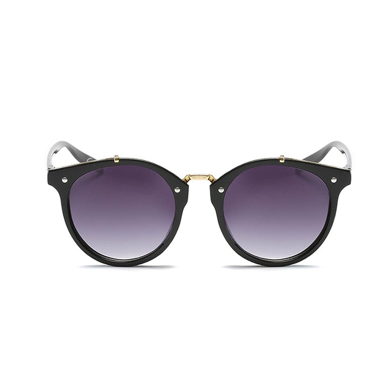 Buweiser Occhiali da sole alla moda occhiali da sole rotondi in metallo occhiali da sole moda 2KEZV