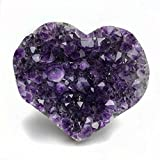 Amethyst Cluster Heart from Uruguay - 1.35 LBS - Style 1