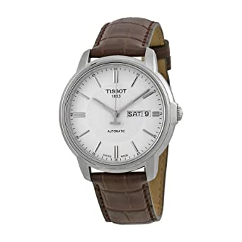 Tissot Men s T0654301603100 Automatic III Swiss Automatic Watch with Brown  Band ce91e588860e