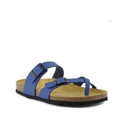 PLAKTON Damen Clogs & Pantoletten, Blau - Blau - Größe: 35 EU