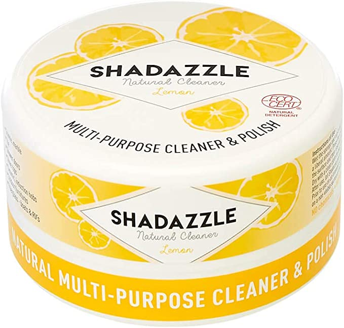 Shadazzle Natural All Purpose Cleaner and Polish - Eco Friendly Multi-Purpose Cleaning Product - Cleans, Polishes & Protects Any Washable Surface (Lemon) best natural kitchen cleaning products