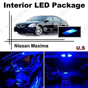 Ameritree nissan maxima 2004 2008 11 pieces blue led lights interior package for Interior accent lighting nissan maxima