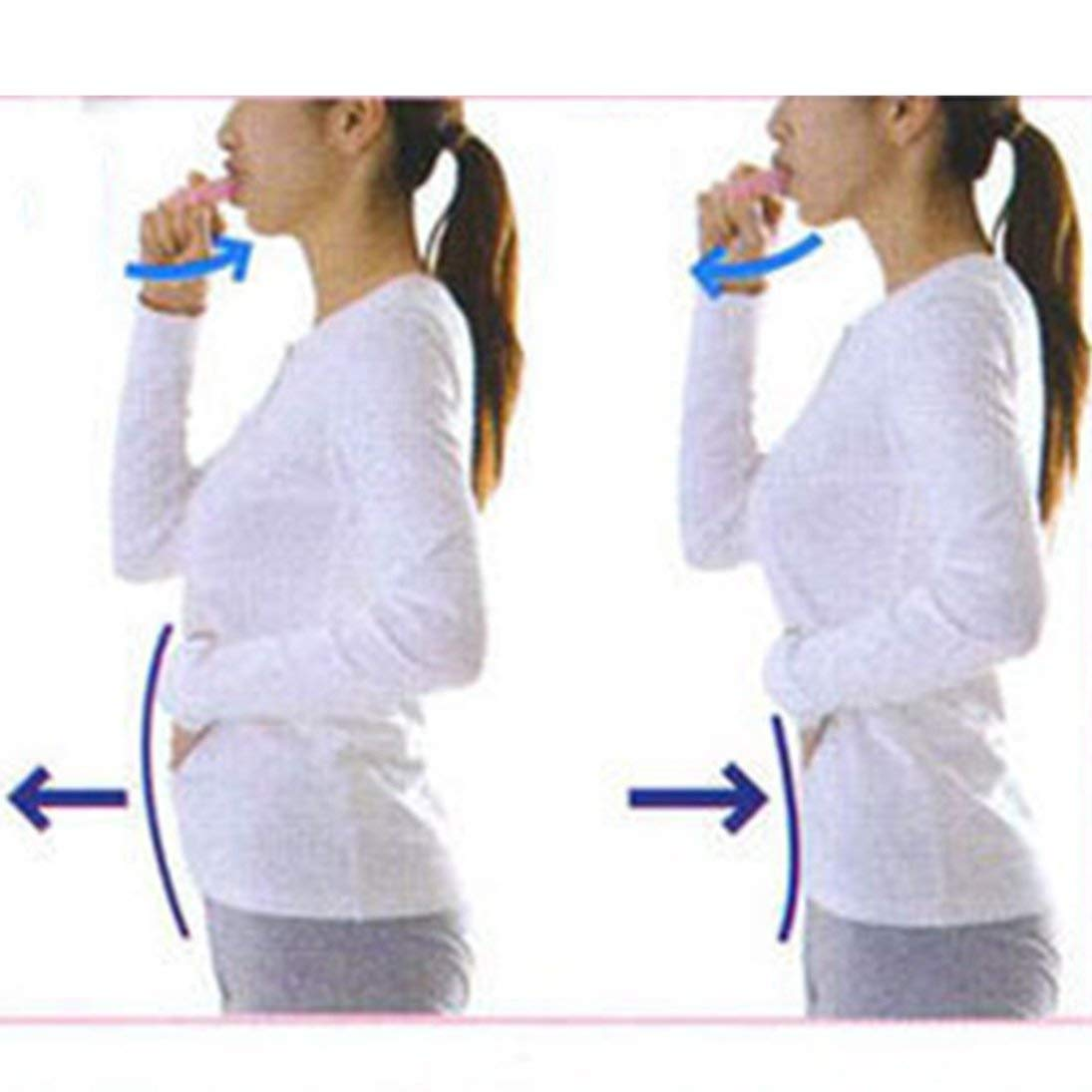WEIHAN Portable 3 /étapes respirateur Abdominal Exerciseur respiratoire Minceur Taille Visage Perdre du Poids Augmenter la Capacit/é Lung Capacit/é Entra/îneur