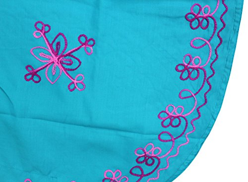 La Leela señoras 5 en 1 rayón suave ligera túnica bordasuperior noche informal vestido traje de baño del bikini kimono encubrir loungewear ropa de playa más noche corta ocasional caftán azul brillante
