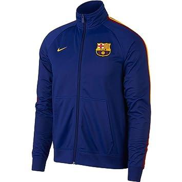 Nike FC Barcelona Chaqueta, Hombre, Deep Royal Blue/University Gold, XX-