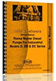 Allis Chalmers D DB DC Roosa Master Diesel Injection Pump Service Manual (AC-S-RMDSLPIN)