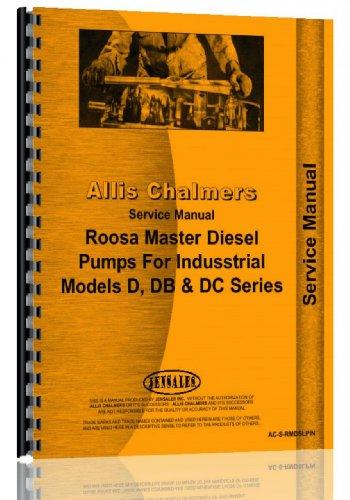 Allis Chalmers D DB DC Roosa Master Diesel Injection Pump Service Manual (AC-S-RMDSLPIN)