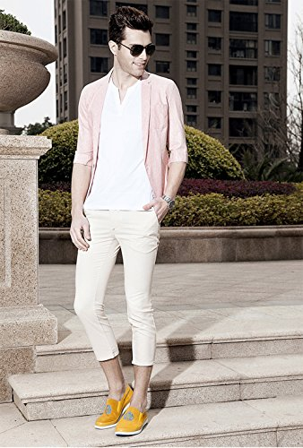 Heren Penny Loafer Voor Casual Wandelen En Outdoor-activiteiten - High Fashion Geel