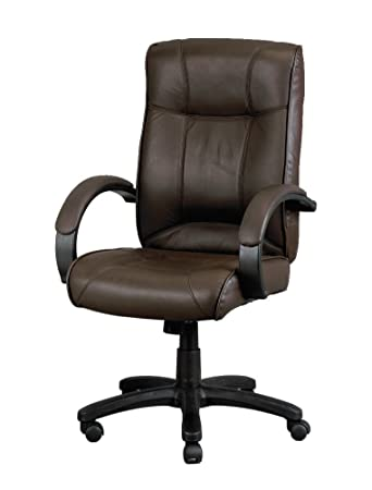 Eurotech Seating Odyssey Collection High Back Brown Leather Executive Chair