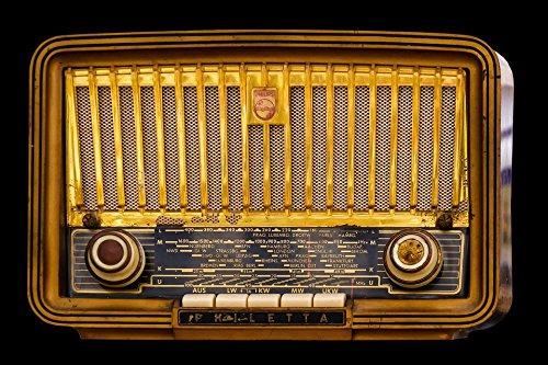 Gifts Delight Laminated 36x24 inches Poster: Radio Old Tube Radio Nostalgia Speakers Retro Old Radio Keys Knob Radio Device Music 1953 Receiver Technology Antique Isolated (Antique Radio Knobs)