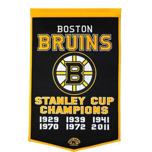 - Boston Bruins Stanley Cup Championship Dynasty Banner - with hanging rod