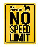Idakoos - Fast Leonberger No Speed Limit - Dogs - Parking Sign