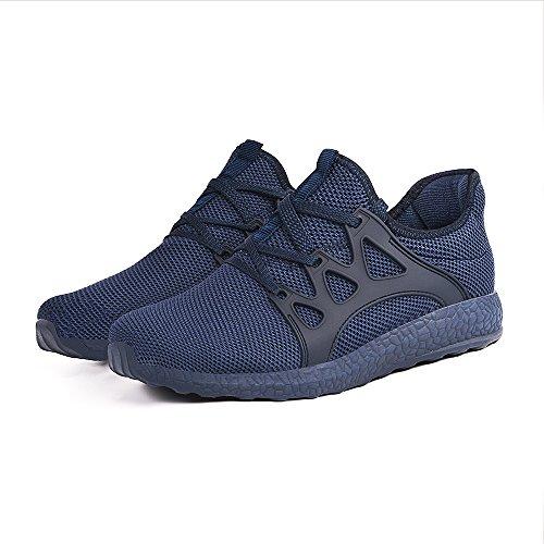 Feetmat Womens Sneakers Ultra leichte atmungsaktive Mesh-athletische Laufschuhe Plus Größe Blau