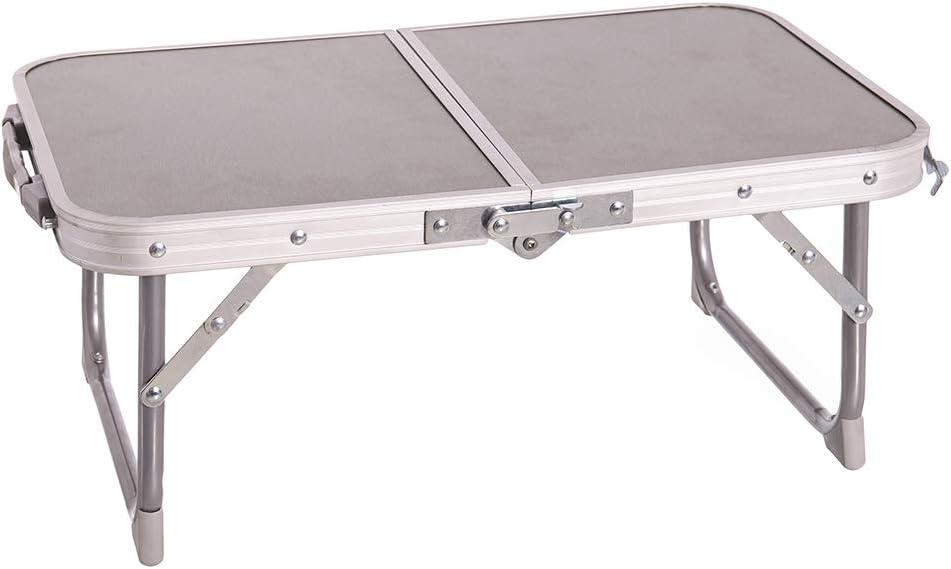 Mesa de Camping Plegable de Acero Gris de 22x34x56 cm - LOLAhome