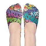 Graphic No Show Socks Women Graffiti Hip-hop Colorful Low Cut Loafers Ankle Socks Women