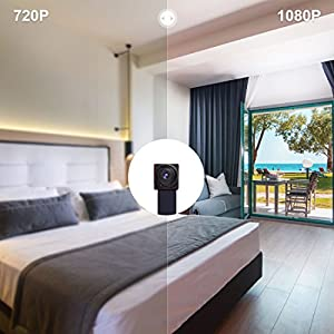 Spy Camera AOBO 1080P HD Hidden Came Nanny Cam Mini Small Wireless WiFi Security Camera Motion Detection Alarm Home Cameras Remote for iPhone/Android Phone/ iPad/PC and Car Surveillance Video Recorder