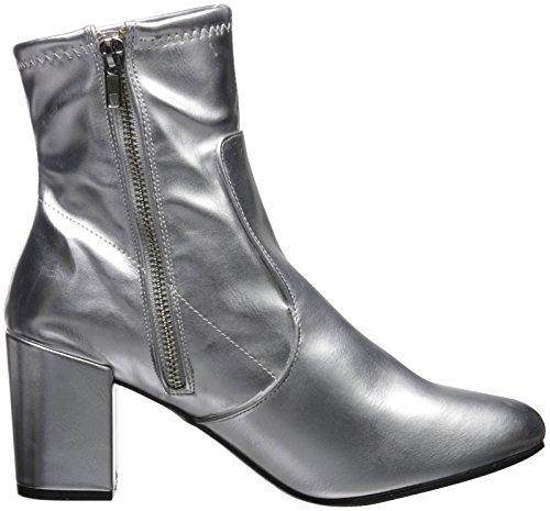 Fashion Heel Ankle Metallic Rampage Stretch Block Boot Itsie Bootie Dress Women's Silver Xq4wt48