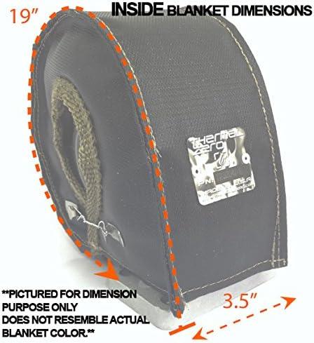 Thermal Zero Red T4 Turbo Blanket Heat Shield Insulation Kit with Lava//Titanium High Temperature Exhaust Wrap /& Stainless Steel Zip Ties TZ32258-RLKIT