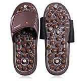 BYRIVER Acupressure Foot Massager Jade Stone Acupoint Indoor Massage Slippers Shoes Reflexology Sandals for Men Women(S)