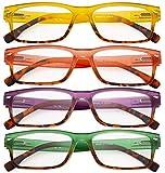 CessBlu Ladies 4 Pack Reading Glasses Rectangular