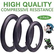 (3-Pack)16'' x 1.75/2.15 Back and 12.5'' x 1.75/2.15 Front Wheel Replacement Inner Tubes for BoB Stroller Tire Tube Revolution SE/Pro/Flex/SU/Ironman - Made from BPA/Latex Free Butyl Rubber¡­