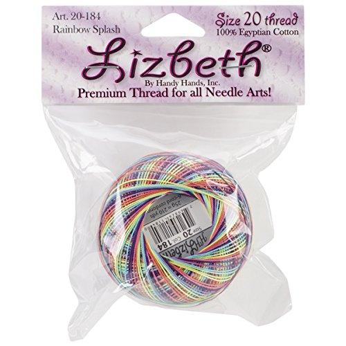 Handy Hands 210-Yard Lizbeth Cotton Thread, 25gm, Rainbow Splash