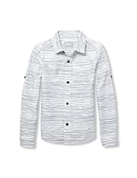 The Children's Place Boys Printed Poplin Button Down Shirt Button Down Shirt