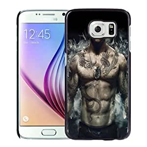 NEW Unique Custom Designed Samsung Galaxy S6 Phone Case With Sleeping Dogs Video Game Tattooed Character_Black Phone Case wangjiang maoyi