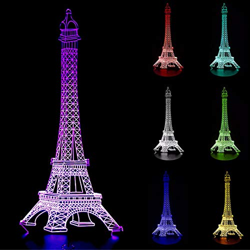 10 Inch LED Light Up Eiffel Tower - Desk Night Light Kids Christmas Gift for Holiday Bedroom Centerpiece Decor