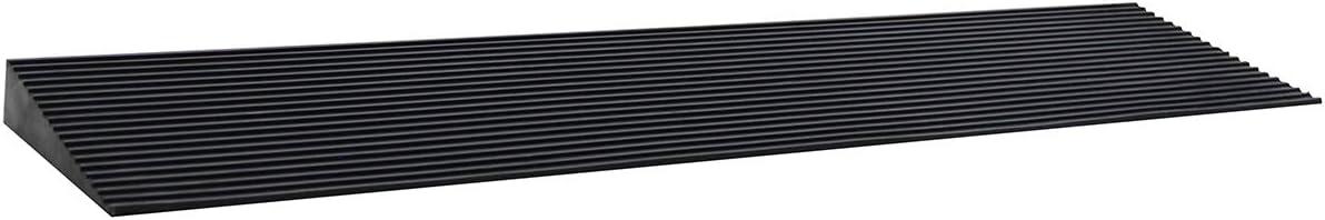 LIEKUMM Rampa de goma para silla de ruedas de 3,5 cm de elevación, rampa de superficie antideslizante para umbrales de sillas de ruedas, aberturas de puertas y cuarto de baño (RTR90-3.5)