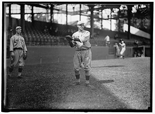 Vintography Reproduced 4 x 5 Photo of: Hal Janvrin, Left; Neal Ball, Right; Boston Al Baseball 1913 Harris & Ewing a20 - Neal Ball