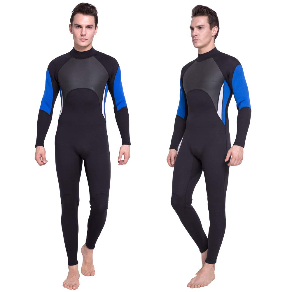 DEHAI Men Women's Full Wetsuits Thermal Suit Sleeves 3mm Neoprene Youth Adult's Diving Swimming Snorkeling Surfing Scuba Jumpsuit Warm Swimwear (Full Men L) by DEHAI