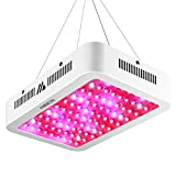 AMMON Led Grow Light,1000W Double Chips Led Grow Light Full Spectrum Led Lamp for Hydroponic Indoor Medicinal Plants Flowering Growing (1000w Dual Chips)