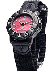 Smith & Wesson Mens SWW-455F Fire Fighters Red Dial Black Band Watch