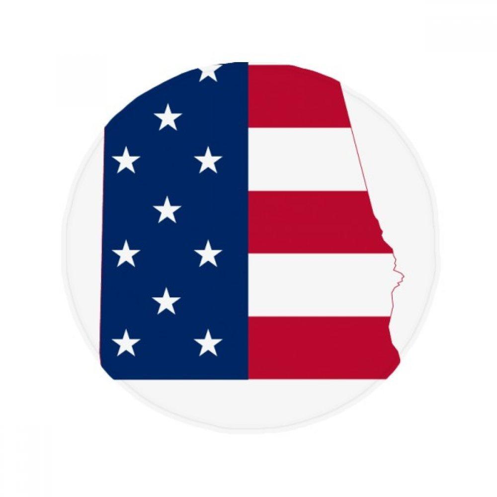 60X60cm DIYthinker Alabama USA Map Stars Stripes Flag Shape Anti-Slip Floor Pet Mat Round Bathroom Living Room Kitchen Door 60 50Cm Gift